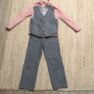 Janie and jack pants suit with vest and shirt
